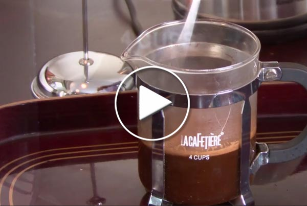Making Coffee in a Cafetiere